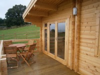 Holiday lodges at working stables near Shrewsbury